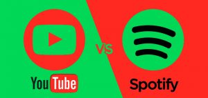 Spotfity vs Youtube - escuchar música online